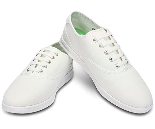 crocs  LoPro Canvas Plim Sneaker Men, Low-top homme Blanc - Weiß (White/White)