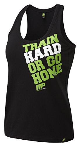 MusclePharm Tanktop Train Hard Vest Damen Schwarz/Grün