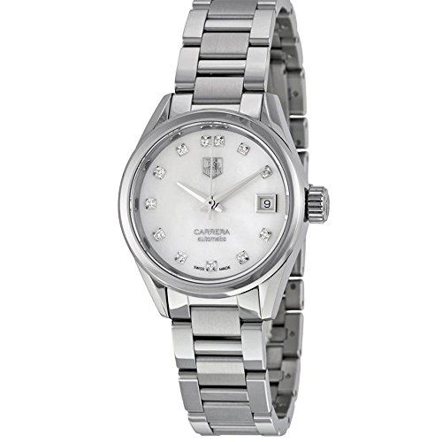 TAG Heuer Women's Steel Bracelet & Case Automatic Silver-Tone Dial Analog Watch WAR2414.BA0776