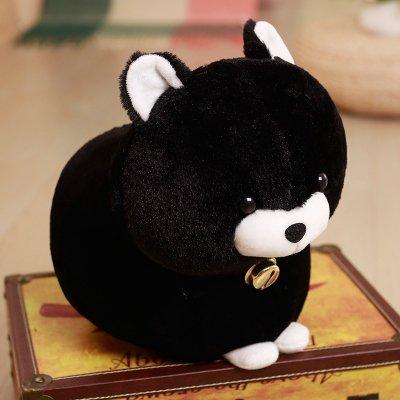 Hebao Cat Lucky Cat Doll Plüsch Spielzeug Cat Cat Doll Segen Cat Bell Cat Dolls Geburtstag Geschenke, schwarze Katze Puppe, 30 cm (Captain America-spiele F)