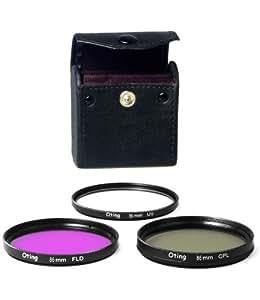 Set de 3 filtres Haute définition 86mm - filtre UV, filtre Polarisant circulaire, filtre Fluorescent