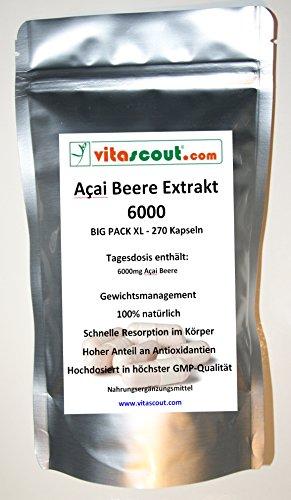 Acai-diät (Acai Beere 6000! 270 Kapseln - Fettverbrennung - Detox - Diät - PN: 010503 …)