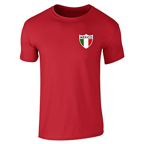 Pop Threads Herren T-Shirt Rot Rot