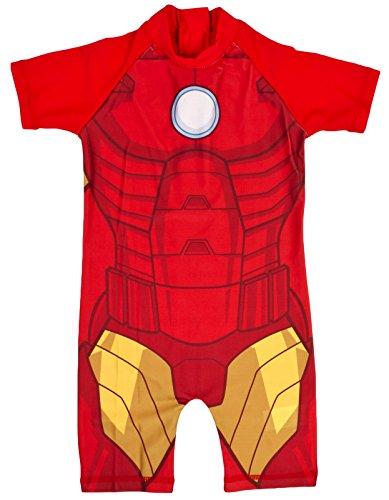 Lora Dora, Jungen-Schwimmanzug/Strandkostüm mit Sonnenschutz Gr. 2-3 Jahre, Iron Man - Novelty