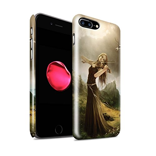 Offiziell Elena Dudina Hülle / Glanz Snap-On Case für Apple iPhone 8 Plus / Cello/Wolken Muster / Trost der Musik Kollektion Song von Blumen