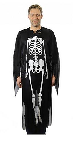 WID - Costume - Scheletro - Adatto ad Adulti - Travestimento - Carnevale - Halloween - Cosplay - Taglia Unica