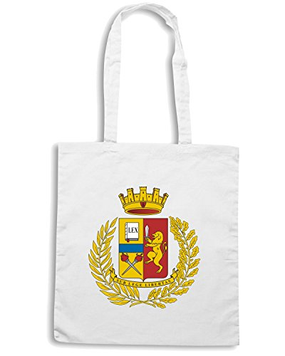 T-Shirtshock - Borsa Shopping TM0595 POLIZIA STEMMA Bianco