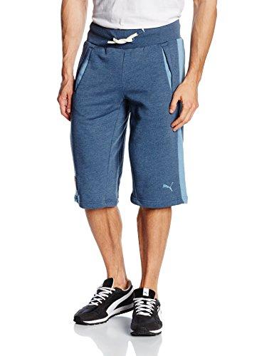 Puma Pantaloni da uomo FIGC Italia Azzurri Bermuda, Uomo, Hose FIGC Italia Azzurri Bermudas, Dark Denim-Blue Heaven, S