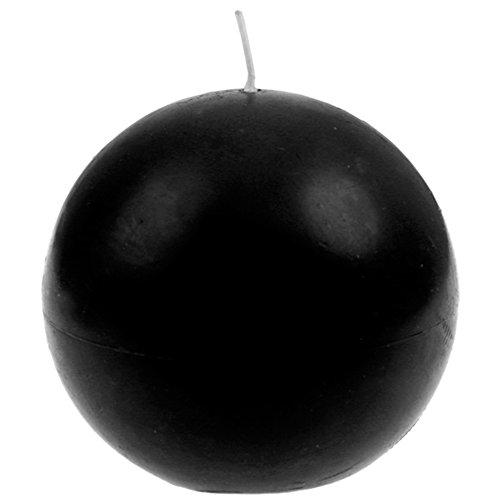 SANTEX 4307-11, Bougie ronde 7cm, en Noir