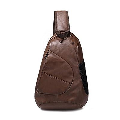 Outreo Sac Besace Homme Sac Porté épaule école Sac bandoulière Cuir Sacoche en Vintage Voyage Sac à Poitrine pour Sport Bag