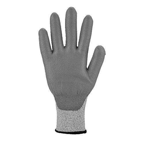 Asatex 3721E 8 Schnittschutz-Handschuh mit Stufe 5 PU-Beschichtung, Grau, Größe 8