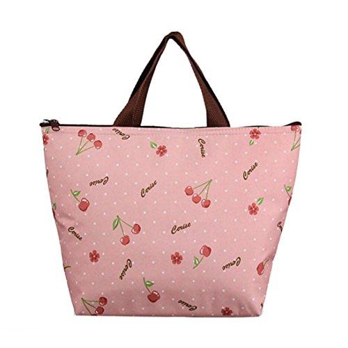 BZLine® Frauen Leinwand Paket Portable wasserdichte Mittagessen Taschen F