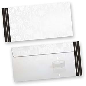 enveloppes pour l 39 annonce d 39 un deuil 50 unit s. Black Bedroom Furniture Sets. Home Design Ideas