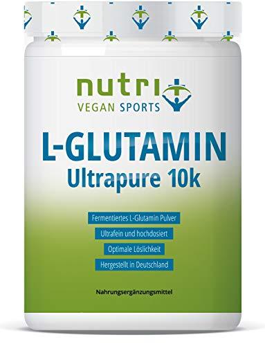 L-GLUTAMIN Pulver 1kg Ultrapure - 99,95% rein - hochdosiert ohne Zusatz - beste Bioverfügbarkeit - Vegan - 2x 500g - Nutri-Plus L-Glutamine Powder - hergestellt in Deutschland
