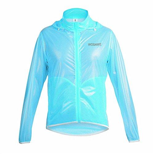LSKCSH Hohe Qualität Unisex-Erwachsene Radfahren Regenmantel Leichte Winddicht Atmungsaktive Fahrrad Bootfahren Im Freien Freizeit Sport Regenjacke (Blau, S)