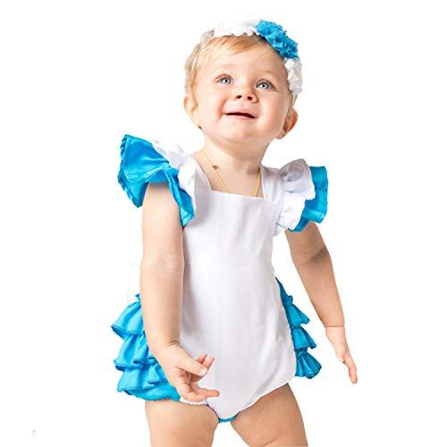 Alice Wunderland Kleinkind Kostüm Und - LOLANTA Alice Kostüm für Baby Wunderland Prinzessin Kostüm für Kleinkinder Halloweenkostüm (6-12 Monat)