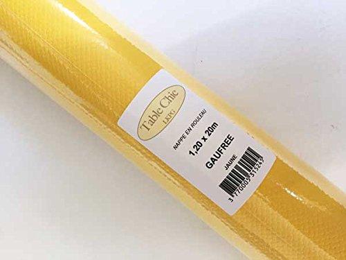 Table Chic - Nappes Papier Gaufrée 1,20X20M Jaune 0ebef48265a