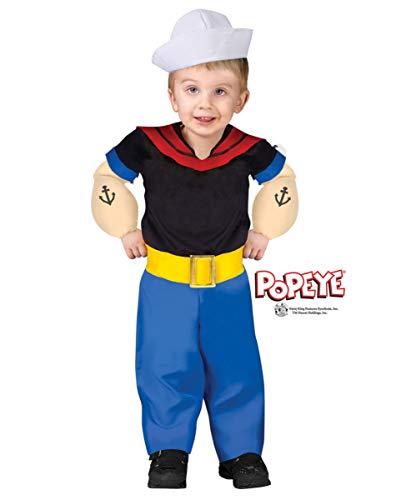 Orginial Popeye Kleinkinder Kostüm - ()
