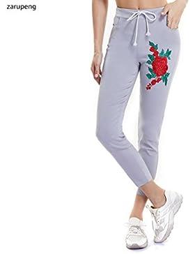 Zarup♥♥♥Pantalones Ocasionales del Lápiz de la Cintura Alta de la Señora de Las Mujeres de la Moda Pantalones...