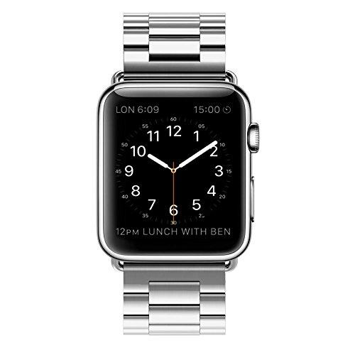 Galleria fotografica LEEHUR Stainless Steel Metal Clasp Buckle Wrist Strap Apple Watch 42mm