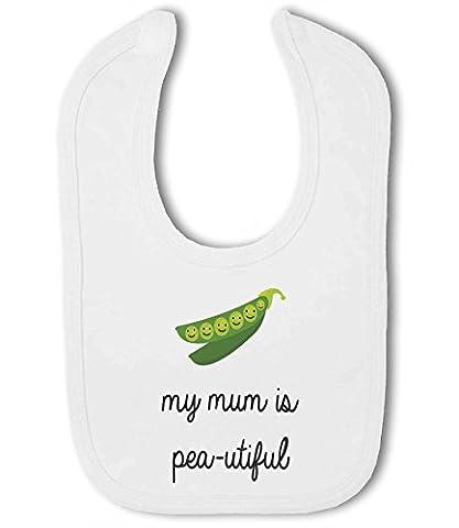 My Mum is Beautiful funny pea pun cute - Baby Bib