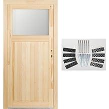 Kuporta Fichte Holz Nebeneingangstür Modell Treysa Kellertür 98 X 198 Cm  DIN Links Mit Montage