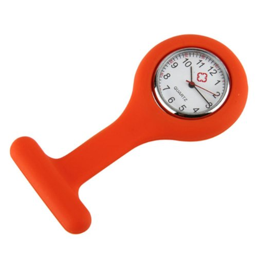 orange-type-de-broche-montre-infirmiere-en-silicone