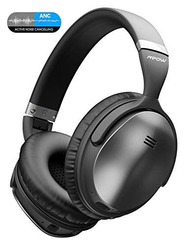 Mpow H5 Cuffie Bluetooth, Cuffie Cancellazione Attiva del Rumore, Autonomia 30 Ore,Cuffie Wireless Con Audio Stereo Hi-Fi, Noise Cancelling Active Headphones, Cuffie Over Ear Per PC/Telefoni/TV /Ipad