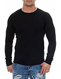 Happy Clothing Herren Langarmshirt Longsleeve T-Shirt Rundhals Top S M L XL  2XL 3XL 42010ee52a