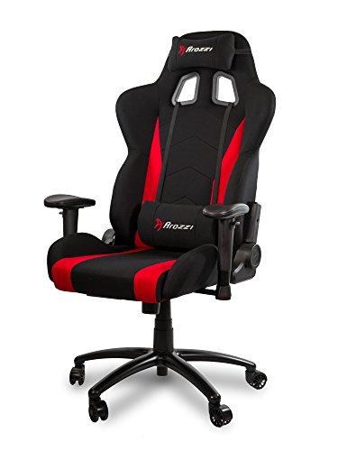Arozzi inizio silla Gamer, tejido, rojo, 53x 47x 133cm