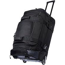 AmazonBasics - Duffel Reisetasche mit Rollen, Ripstop