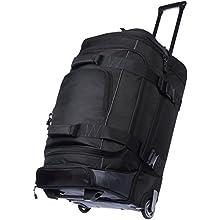 AmazonBasics - Duffel Reisetasche mit Rollen, Ripstop, 72 cm, 64 Liter, Schwarz