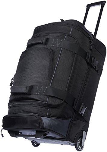 AmazonBasics - Duffel Reisetasche mit Rollen, Ripstop, 66 cm, Schwarz