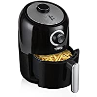 Tower T17026 Compact Air Fryer with 30 Minute Timer, 1000 W, 1.6 Litre, Black