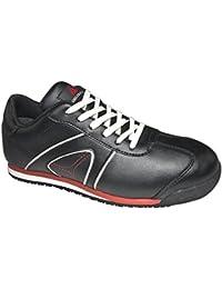 Delta plus calzado - Juego zapato piel flor negro talla 42(1 par)