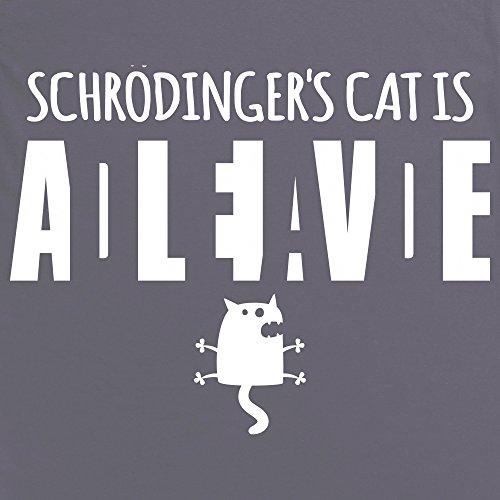 Schrodinger Dead Alive T-Shirt, Herren Anthrazit