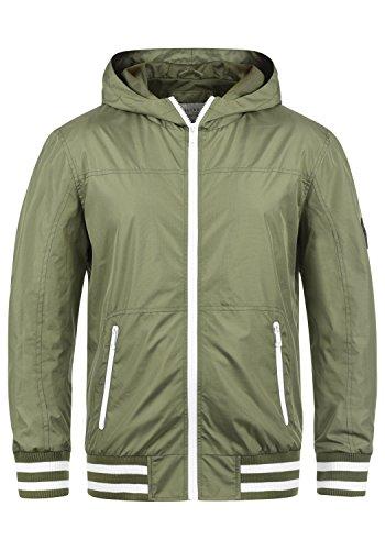 Blend Novan Herren Übergangsjacke Herrenjacke Jacke mit Kapuze, Größe:M, Farbe:Dusty Olive Green (77203) -