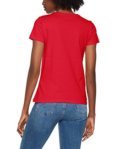 Only Onlriva SS Tee Noos, T-Shirt Donna Rosso (High Risk Red Print:free W/bright White)