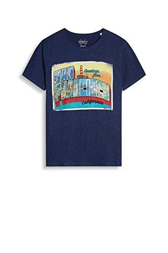 ESPRIT Herren T-Shirt 057ee2k013 Blau (Navy 400)