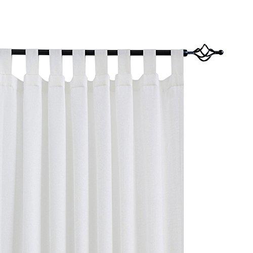 CKNY 2 Stücke Sheer Vorhang Lässige Vorhang Mit Schlaufen Für Wohnzimmer Balkon Weiß 2 Pieces 245 cm x 140 cm (H x B) 2er-Set