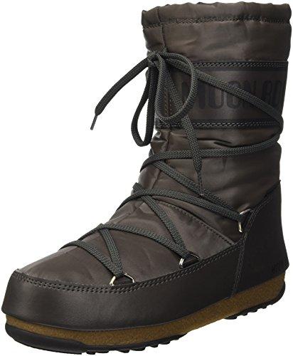 Moon Boot Damen W.E. Soft Shade Mid Outdoor-/Sportschuhe, Grigio (Antracite), 40 EU
