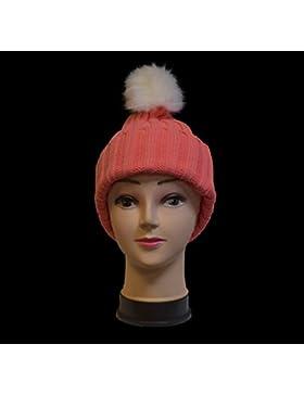 Las mujeres Ladies Invierno Pom Pom sombrero acogedor gorro gorra de invierno cálido gorro de Pom Pom sombrero...