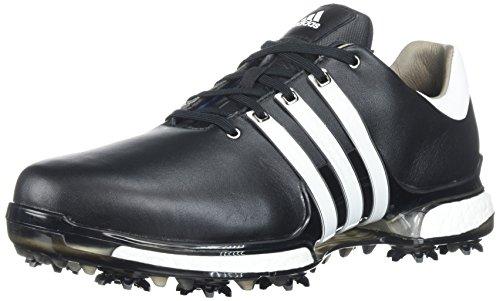 reputable site b3094 6a822 adidas Mens TOUR 360 2.0 Golf Shoe, Core BlackWhite, 11 Wide US