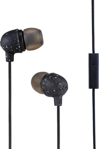 The House of Marley EM-JE061-BK Little Bird Auricolari con Microfono, Risposta in Frequenza: 20hz - 20 KHz,Driver: 9.2mm, Input : 3.5mm Stereo, Nero