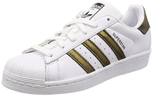 adidas Damen Superstar W Gymnastikschuhe, Schwarz (FTWR White Core Black), 38 EU