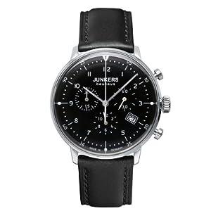Reloj Junkers 60862 de cuarzo para hombre con correa de piel, color negro de Junkers