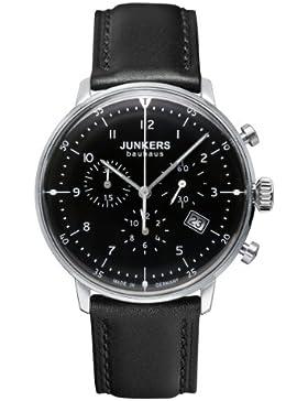 Junkers Herren-Armbanduhr XL Bauhaus Chronograph Quarz Leder 60862