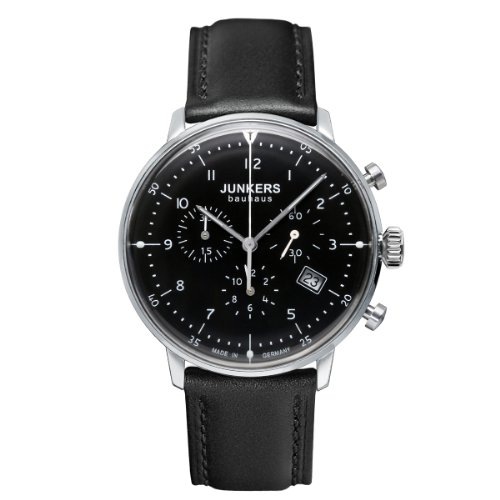 Junkers Herrenuhr Chronograph Quarz mit Lederarmband - 60862