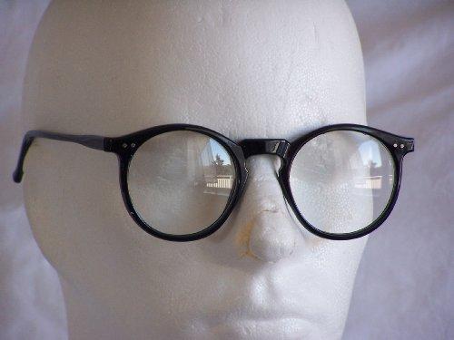 Vintage Retro Style Occhiali da sole Lennon trasparente Lense 5175Mix, marrone