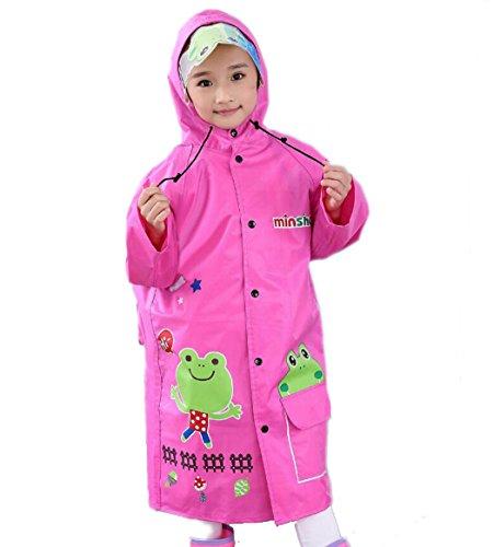 WENMW Cute Cartoon Nylon Seide Stoff Mädchen, Junge, Poncho mit Rucksack Position (Multicolor Optional) (Farbe : B, Größe : XXL)